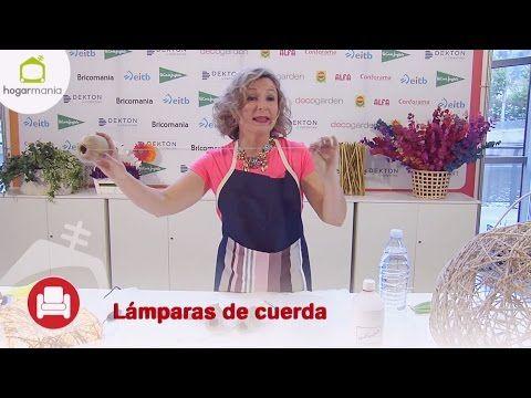 Feria Hogarmania: lámparas hechas con cuerdas - YouTube