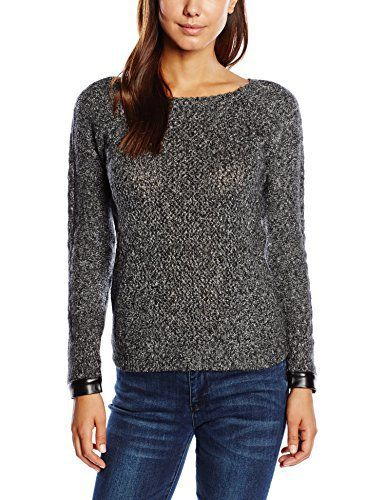 Naf Naf Mable – Sweat-shirt – Tie-dye – Manches longues – Femme – Gris (After Dark Chin) – FR: 38 (Taille fabricant: M): Tweet
