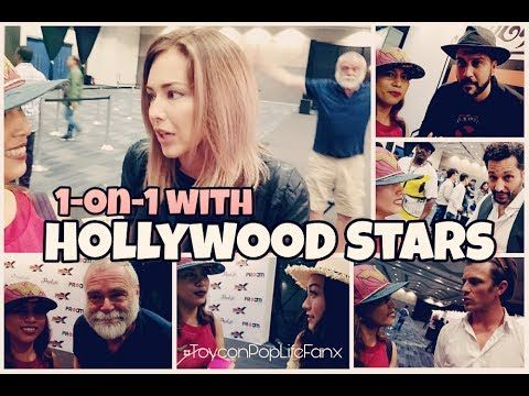 Day 3 Exclusive #ToyconPopLifeFanX 1-on1 with Hollywood Stars #Toycon201...Lucky MsEarth Rullan on her Day 3 YouTube video capture short interview with Cas Anvar and other Hollywood Stars ToyCon 2017.