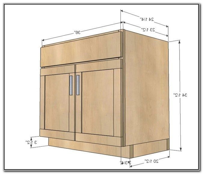 Bathroom Sink Vanity Dimensions From Standard Kitchen Base Cabinet  Dimensions