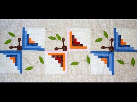 Patchwork Maria Adna - Caminho (trilho) de mesa em patchwork e apliquê - Aula e técnica patchwork