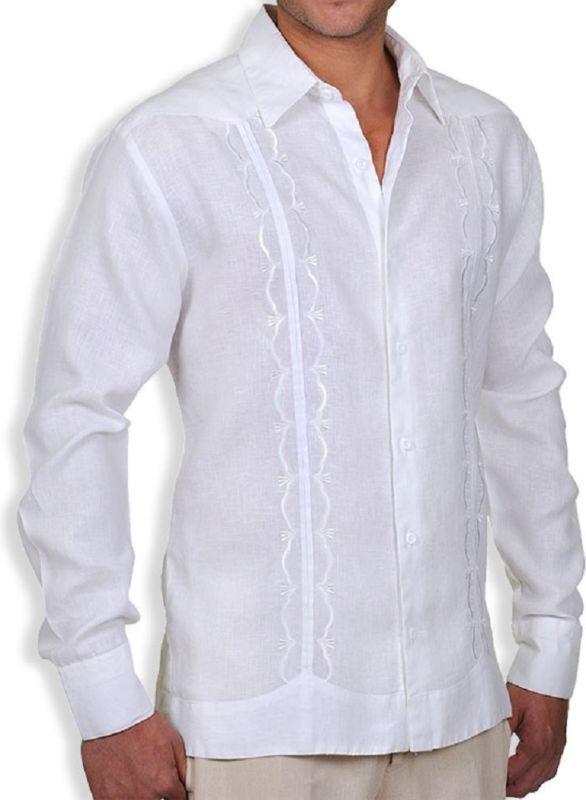 Gat Hawaiian Men S Aloha Lucas Linen Guayabera Shirt
