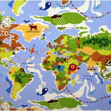 8 best childrens designs images on pinterest oilcloth curtain around the world how about a geography lesson over breakfast http gumiabroncs Images