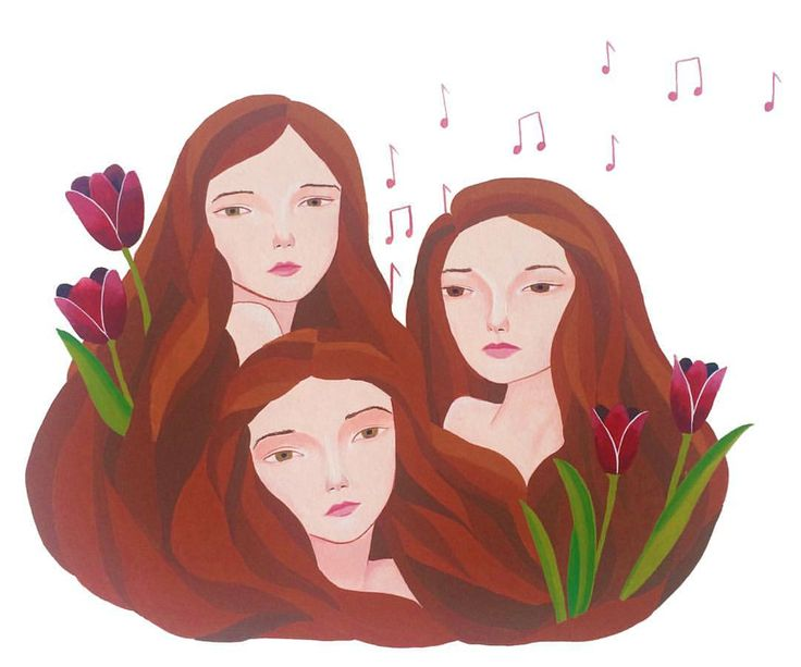 A commission for three beautiful, musical sisters  by Laura Bernard