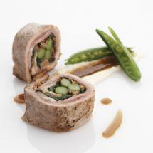 Recepten - Gevuld varkenshaasje met asperges en spinazie