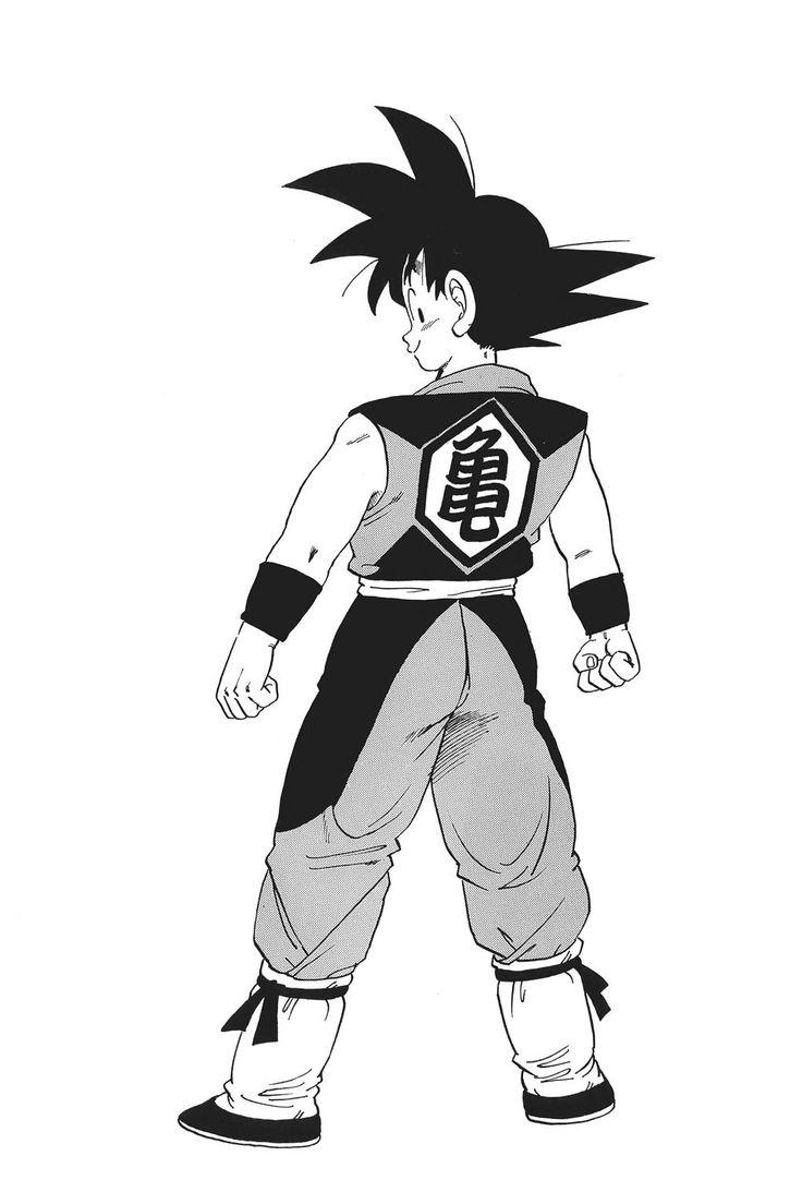 Concept art de Goku adolescente por Toriyama