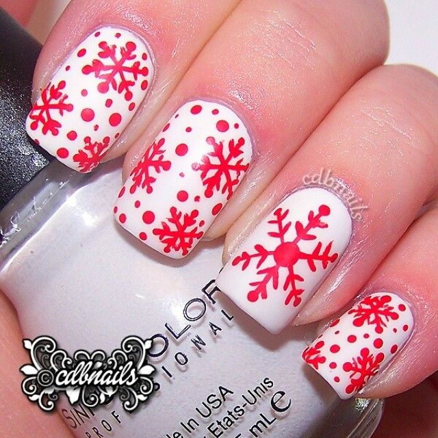 christmas snowflakes by cdbnails143 #nail #nails #nailart