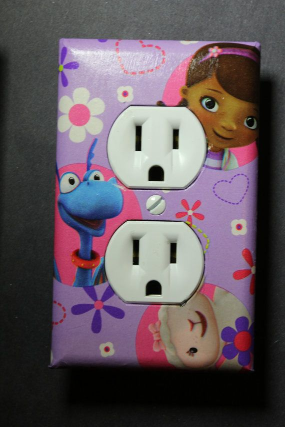 Doc McStuffins 3 piece Light Switch Plate and by ComicRecycled
