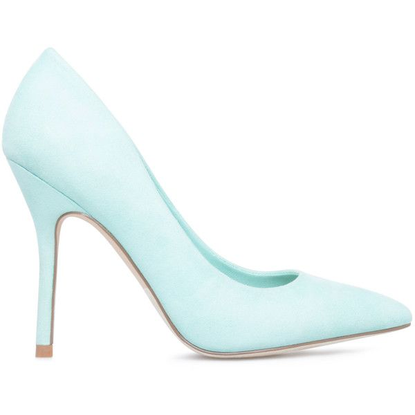 ShoeDazzle Pumps Marcee Womens Blue ❤ liked on Polyvore featuring shoes, pumps, heels, blue, shoedazzle shoes, heel pump, cushioned shoes, blue heel pumps and blue shoes
