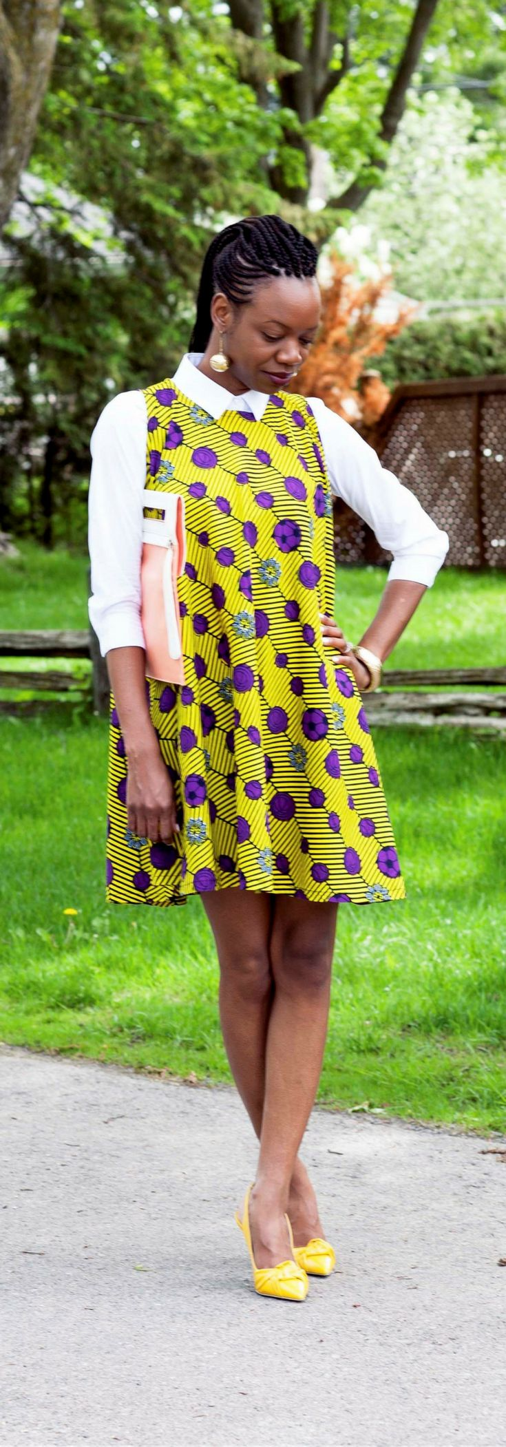 Short African print dress