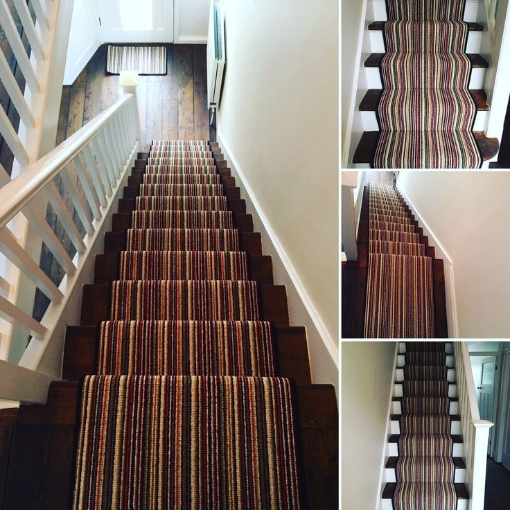 Stunning Kingseamd carpet on the stairs. Fitting stripes on the staircase really do brighten up the house.