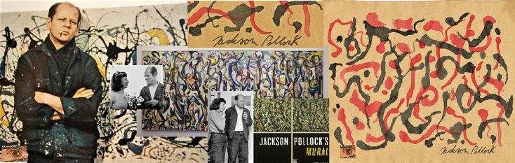 Happy Birthday American Artist Jackson Pollock! January 28, 1912 – August 11, 1956 From The ipi House Abstract Gallery;  ipi JACKSON POLLOCK Signed on Paper  16cm/6.3'' x 23.5cm/9.25'' ipapereye.com  ipapereye@gmail.com