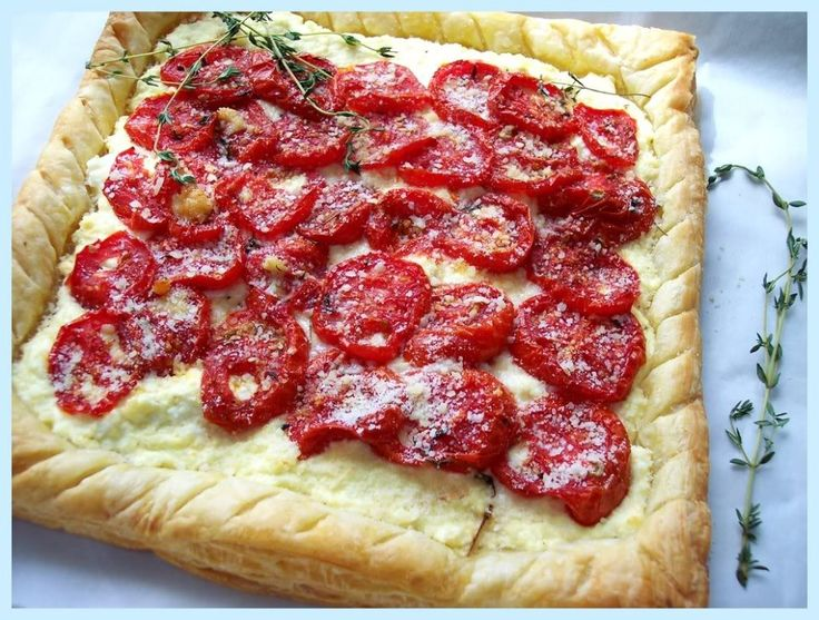 ROASTED TOMATO AND RICOTTA TART | Appetizers | Pinterest