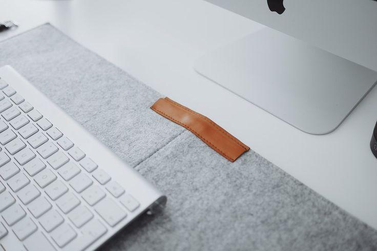 Grey Felt Desk Mat - UltraLinxStore.com