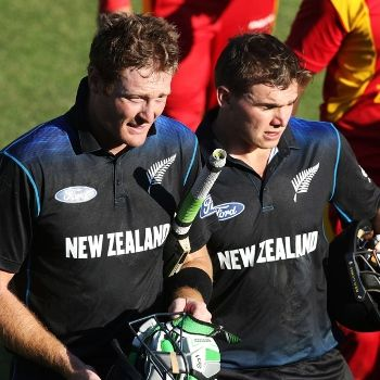 Openers Martin Guptill and Tom Latham both struck centuries as New Zealand crushed Zimbabwe by 10 wickets in the second one-day international in Harare on Tuesday to set up a series decider. Chasing 236 to level the three-match series in the wake of Sikandar Raza Butt's unbeaten 100 for Zimbabwe who reached 235 for nine, Guptill finished unbeaten on 116...  Read More