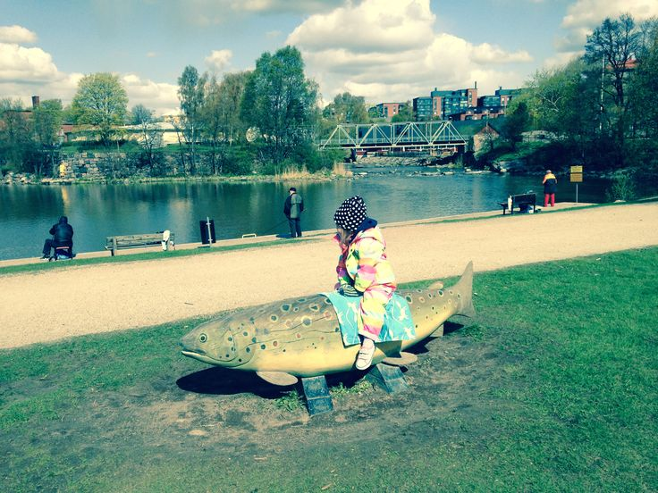 Riding on the fish. #njálla