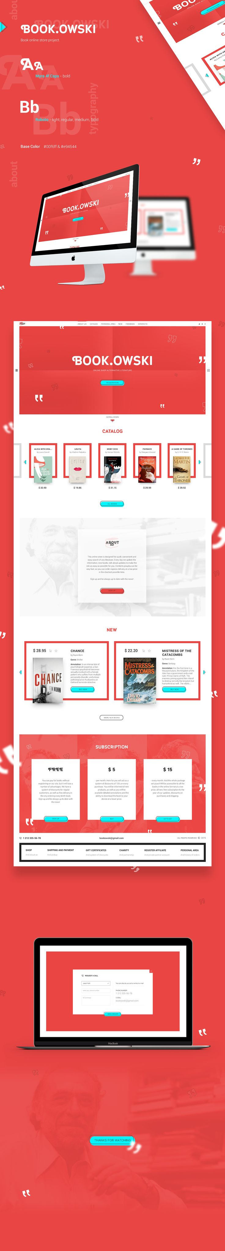 UI/UX Book Online Store Landing Page on Behance