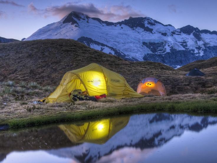 Camping, Mount Aspiring National Park, New Zealand