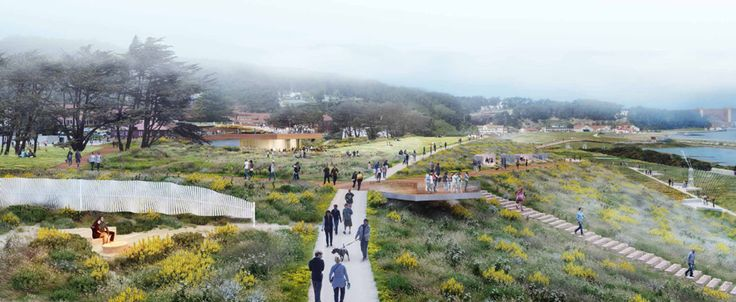 competing designs revealed for presidio parklands project in SF CMG landscape architecture