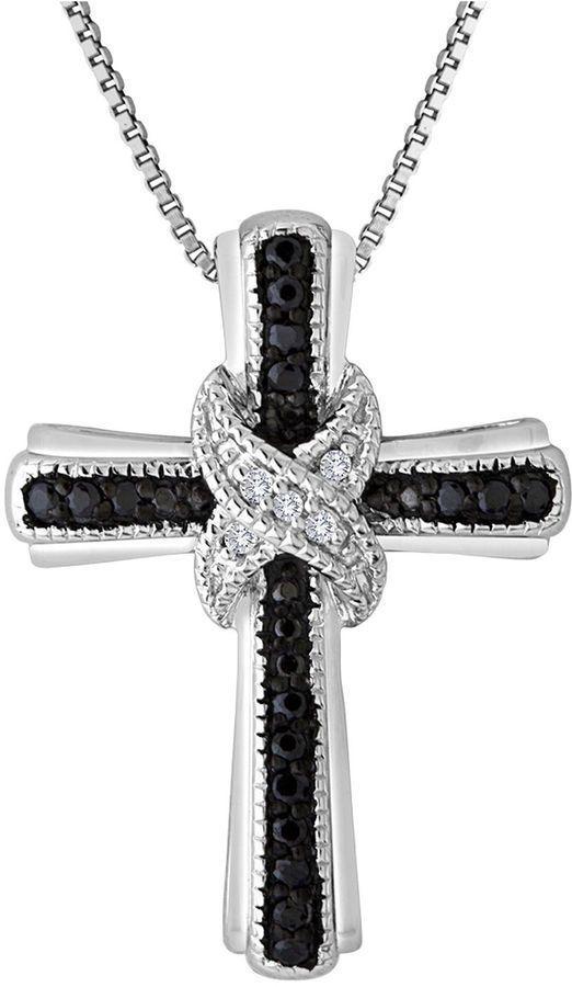 Black diamond cross necklace 207 pinterest tw white and color enhanced black diamond cross mozeypictures Gallery