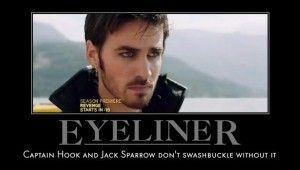 Captain Hook | Jack Sparrow | And it should be pointed out that they keep the eyeliner industry in business