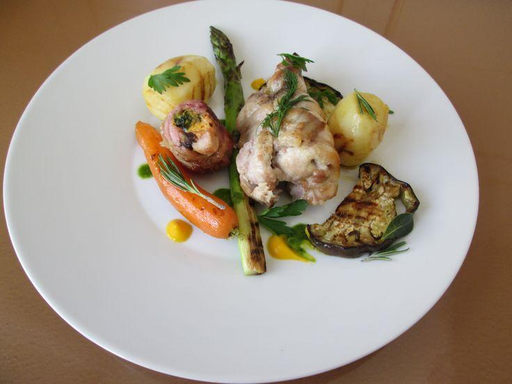 Gino D'Aquino /  Coniglio arrosto  verdure alla griglia    /  Gino D'Aquino