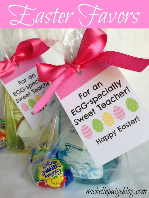 201 best gift ideas images on pinterest teacher appreciation michelle paige easter favors for teachers friends and family free printable negle Gallery