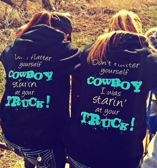 I have the shirt that says 'starin at your horse' but want either this hoodie or the shirt <3