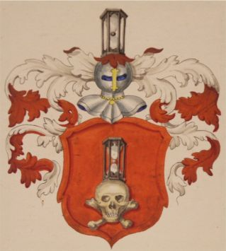 Familienwappen aus den genealogischen Registern der Stadt Schaffhausen, angelegt von Hans Wilhelm Harder (1810–1872), 5. Band (I-L) Familie Lang