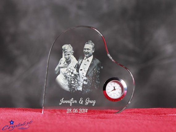 Anniversary gift I love you gift Wedding by Crystals3DEngraving