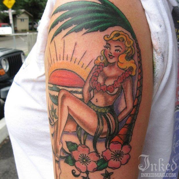 hula girl tattoo | Över 1 000 bilder om Hula Girl Tattoo Ideas på Pinterest
