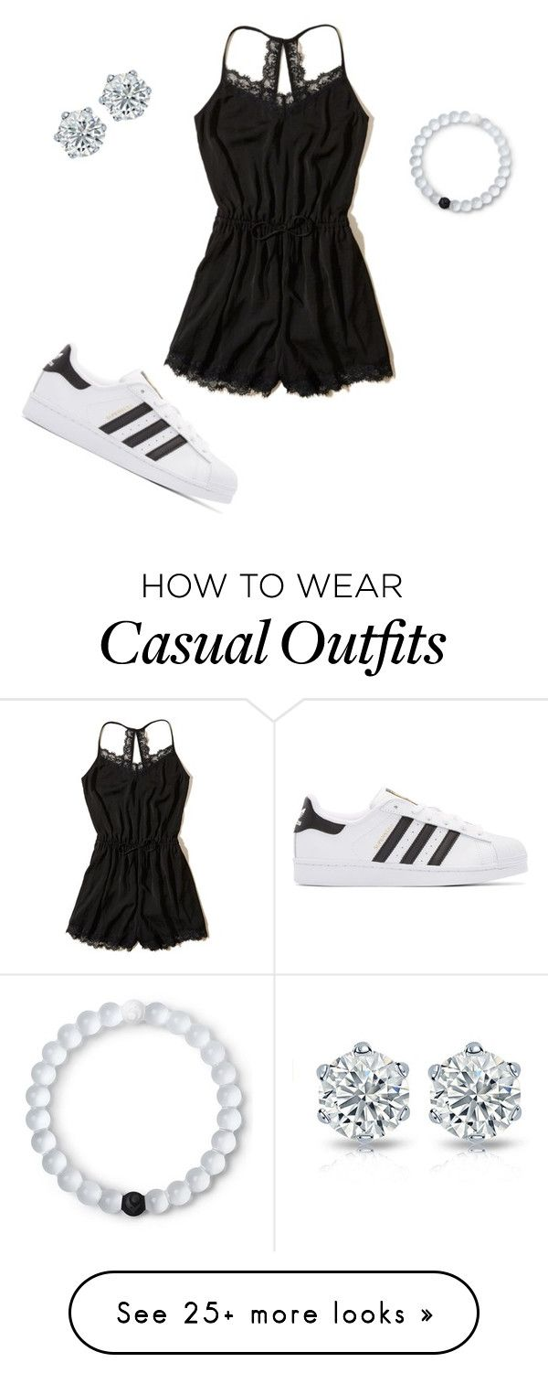 """""""casual:)"""" by kenzierankin on Polyvore featuring Hollister Co., adidas Originals and Lokai"""