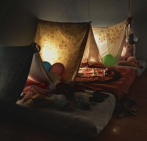 indoor sleeping tents for kids . . .so cozy ≈w/ baby or twin matress