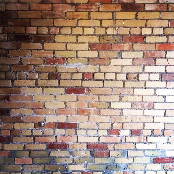 Just a plain brick wall