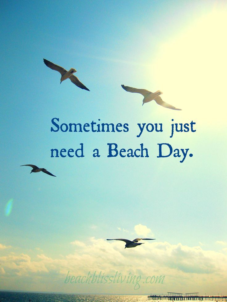 Sometimes you just need a Beach Day.