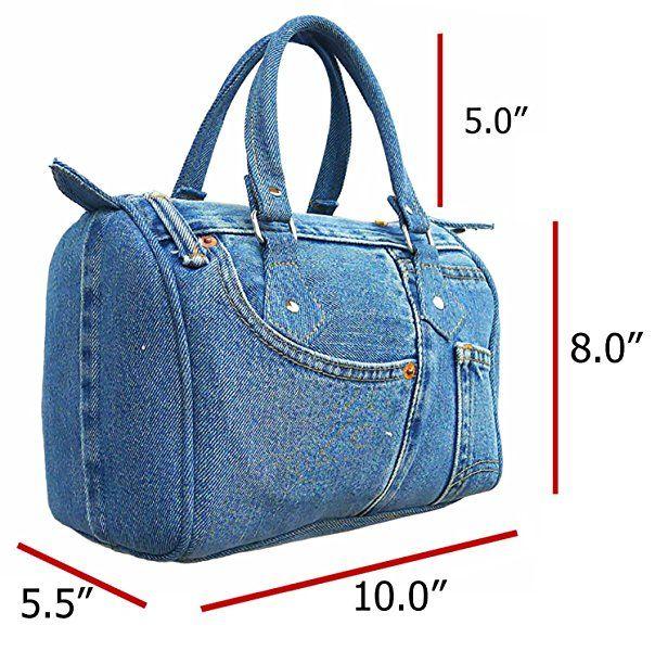 BDJ Classic Blue Denim Jean Doctor Style Women Handbag (LL-04)