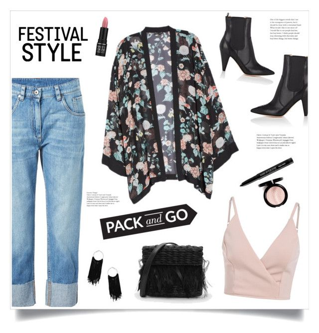 """Festival Style!"" by diane1234 ❤ liked on Polyvore featuring Vince Camuto, Gianvito Rossi, CHARLES & KEITH, Brunello Cucinelli, MAKE UP FOR EVER, musicfestival, Packandgo, SXSW and basketbags"