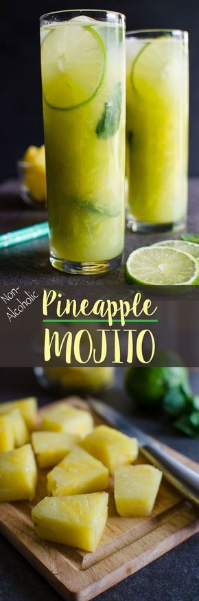 This non-alcoholic pineapple mojito is a perfect combination of fresh fruits to stay hydrated. And, it is naturally sweetened and a healthy drink to enjoy throughout the season.