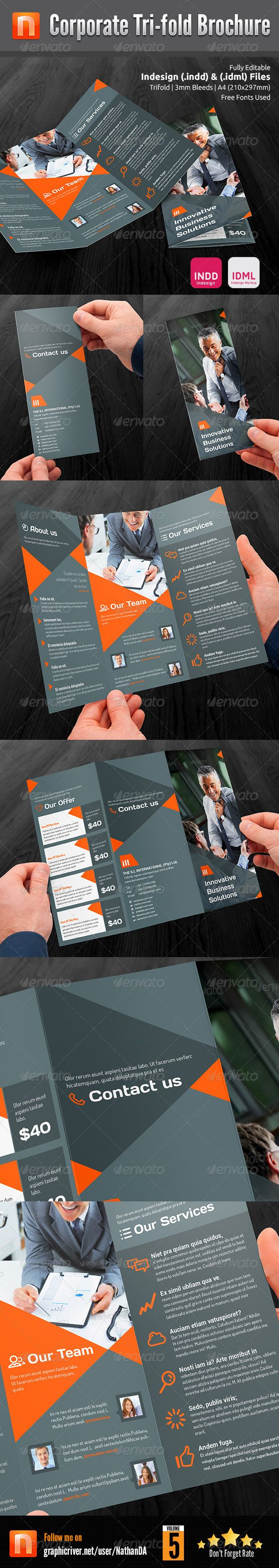 Corporate Tri-fold Brochure V5  —  InDesign Template
