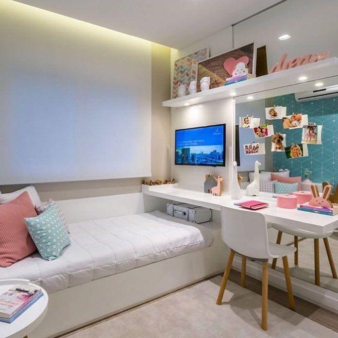 """90 Likes, 2 Comments - • Arquitetura   Decor (@decorarideias) on Instagram: """"Bom dia com esse quarto lindo para as meninas ✏️Por Autor Desconhecido. . . . . #Decorarideias…"""""""