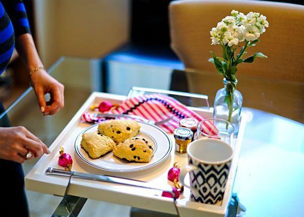 Café na cama para o Dia dos Namorados.