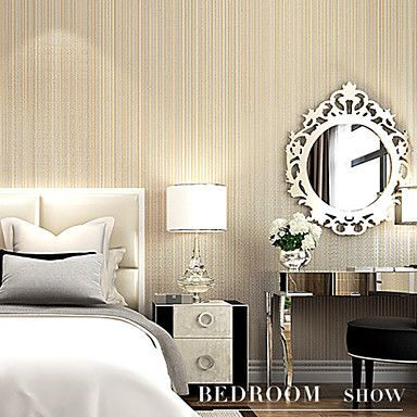 Contemporary Wallpaper Art Deco 3D Vertical Stripes Wallpaper Wall Covering Non-woven Fabric Wall Art – AUD $ 70.06