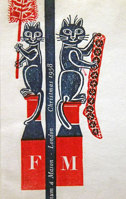 Detail, Christmas 1958 Fortnum & Mason order form by English artist, illustrator & graphic designer Edward Bawden (1903-1989). via Letterology