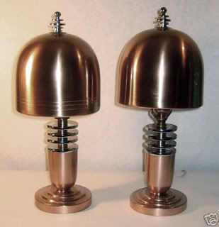 Some sweet looking lamps that give off a sort of space age science-fiction ray gun feel.