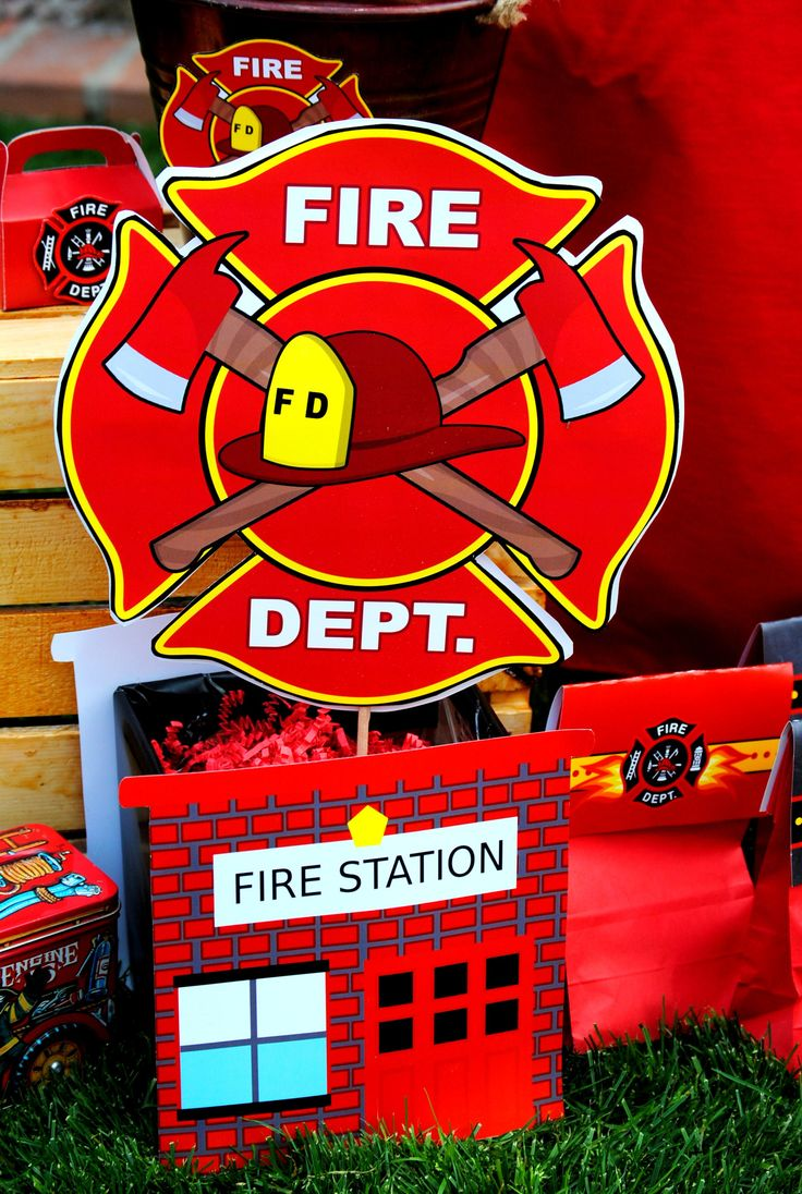 FIRE FIGHTER HOUSE- PROPS - FIREMAN Party - Fire Truck Party