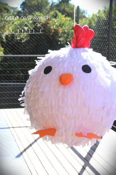 chiken party piñata. I wouldn't want to hit it, so it would be a great decoration.