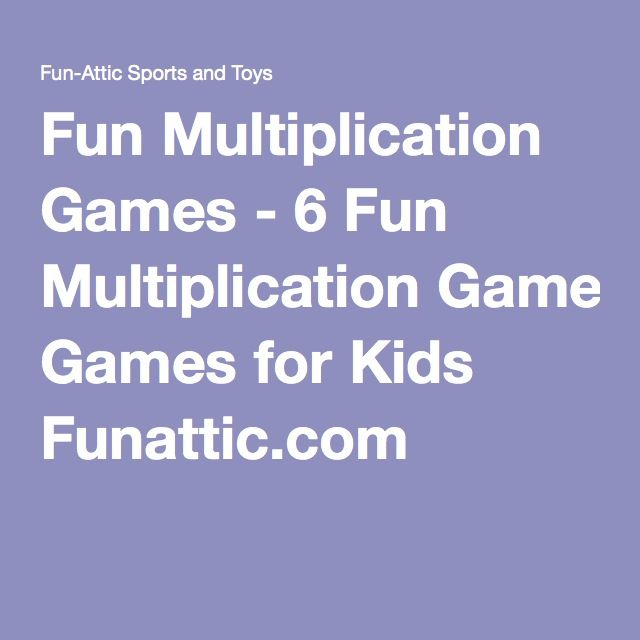 1000+ ideas about Fun Multiplication Games on Pinterest ...