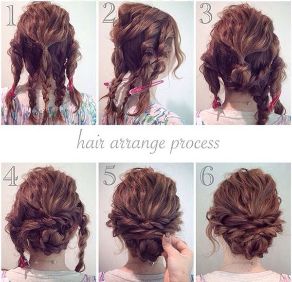 Tremendous 1000 Ideas About Curly Hair Updo On Pinterest Hair Updo Curly Short Hairstyles Gunalazisus