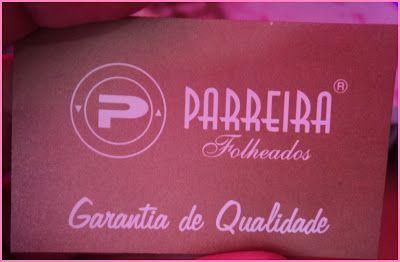 Pinkbelezura: Nova Parceria - Parreira Folheados