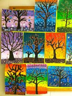 Getting My Art Wings Back: Grade 6 Patterned Tree Designs